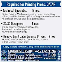 Printing press job vacancy