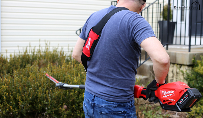 German Garay using Milwaukee Hedge trimmer attachment