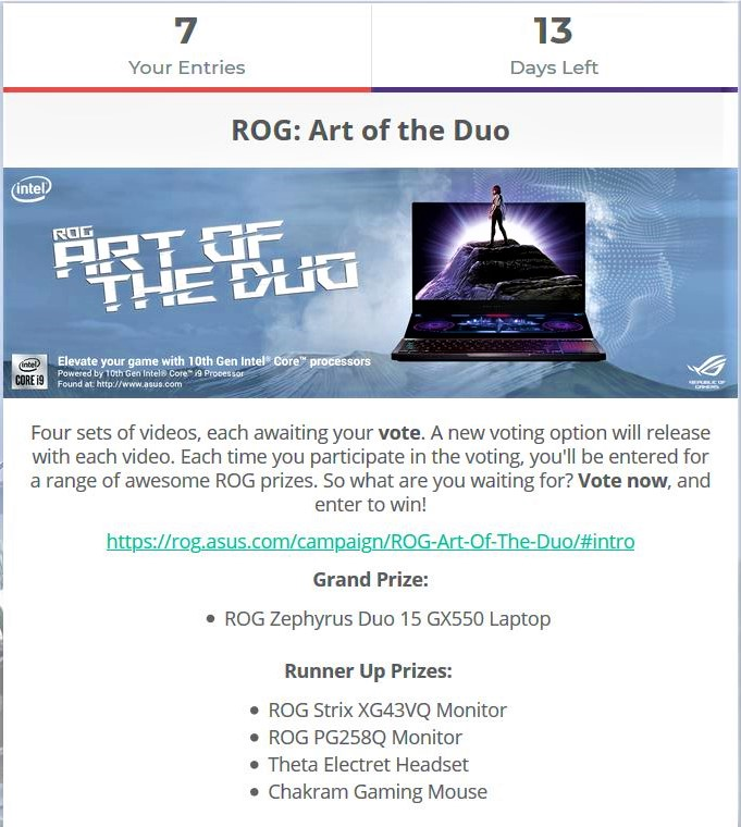ROG Art of The Duo Competition
