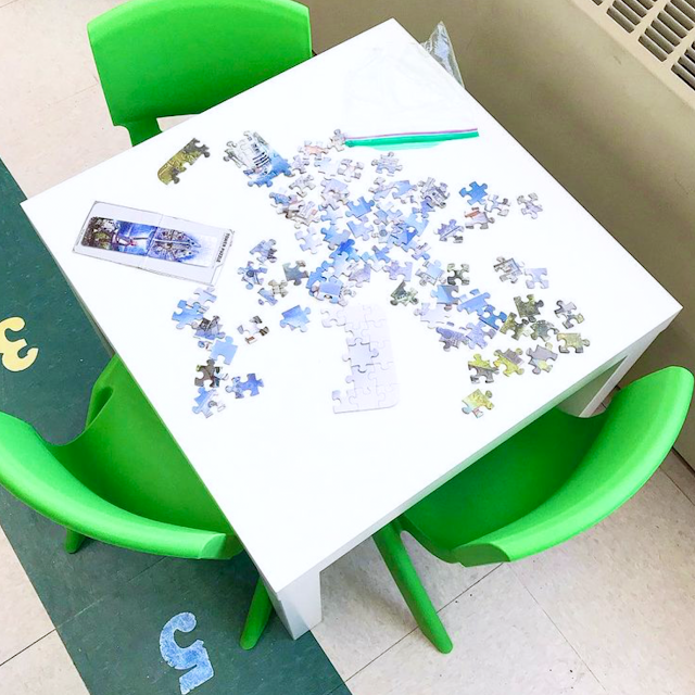 classroom puzzle table for K-1