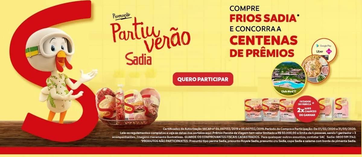 Promoção Sadia 2020 Partiu Verão Viagens e Brindes