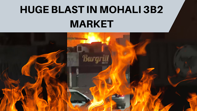 People Panicked By a Cylinder Blast in Phase 3B2 Market, Mohali