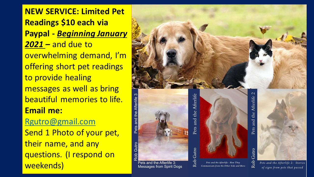 GET a Limited  Email Pet Reading/$10 each via Paypal