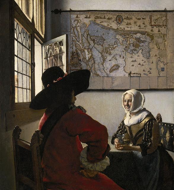 ורמר - קצין ונערה צוחקת - 1657 - אוסף פריק