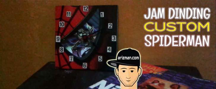Jam Dinding Custom Spiderman