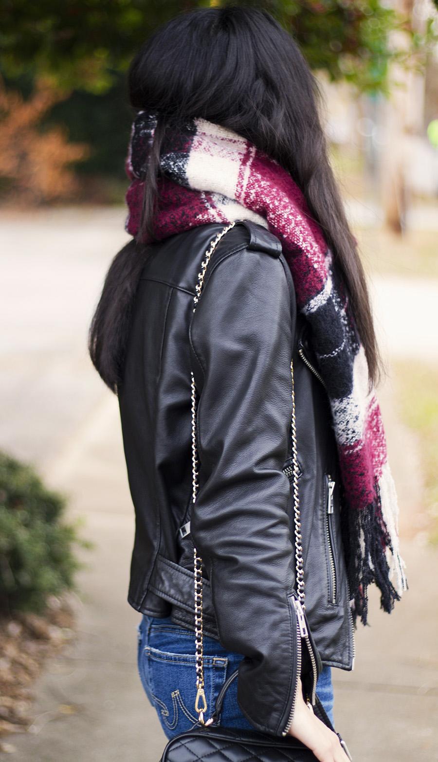 allsaints balfern biker jacket outfits