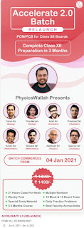 PHYSICSWALLAH: ACCELERATE 2.0 (RELAUNCH) FOR PCM/PCB