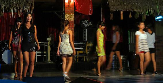 Burmese girls in the night shift