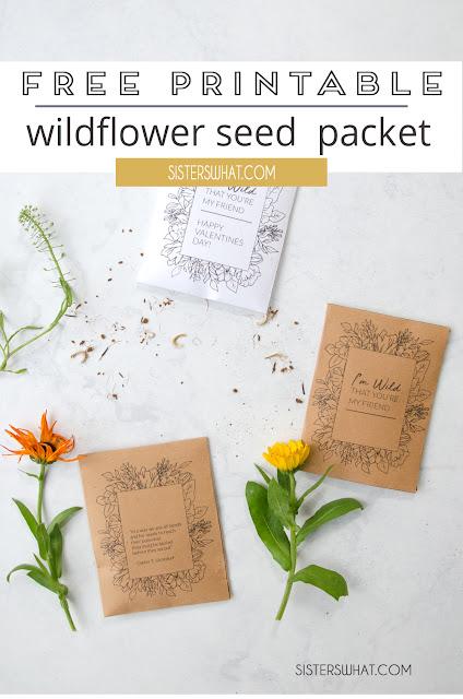 free printable wildflower seed packet