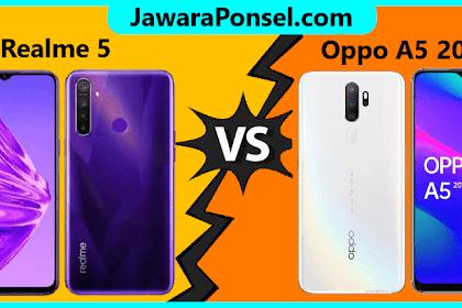 Perbandingan spesifikasi Realme 5 vs oppo A50 2020, Lebih Bagus Mana ?