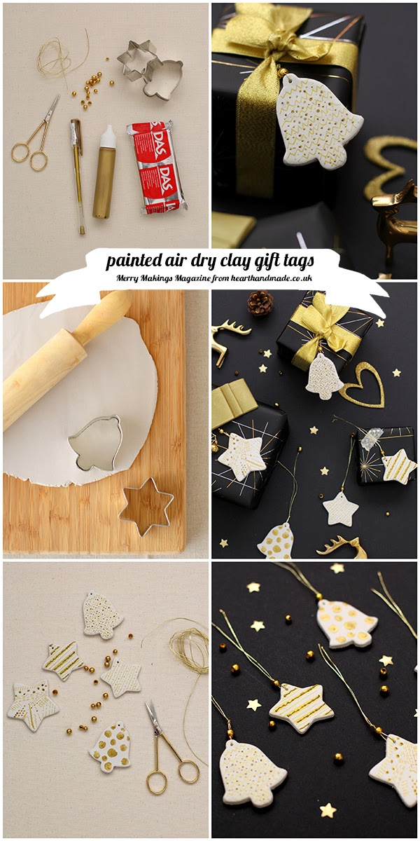 painted air dry clay gift tags tutorial