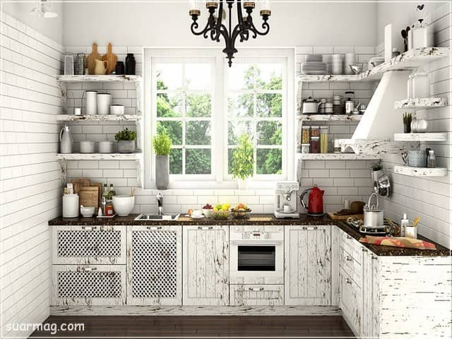 ديكورات مطابخ صغيرة 15   Small kitchen Decors 15