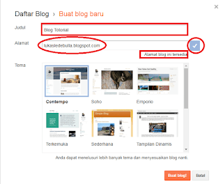 Cara Buat Blog Gratis