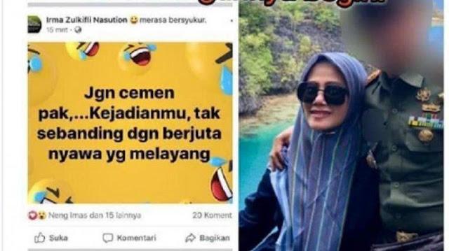Ini Postingan Istri Dandim Kendari soal Wiranto Viral di Facebook yang Berakibat Sang Suami Dicopot