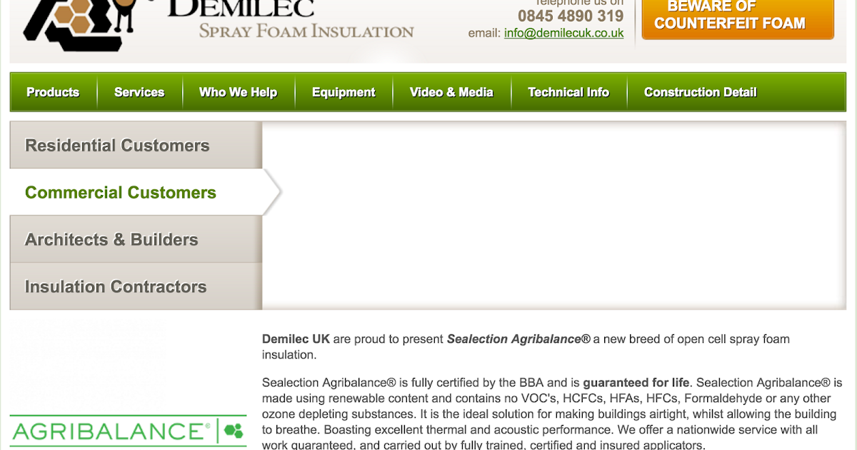 Demilec spray foam insulation uk viral media fandeluxe Gallery