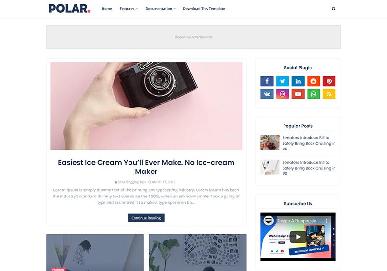 Polar Blogger Template