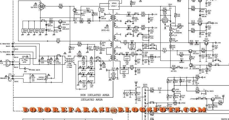 SERVIS TV LED/LCD SALATIGA: SKEMA POWER SUPLY POLYTRON 51N21T