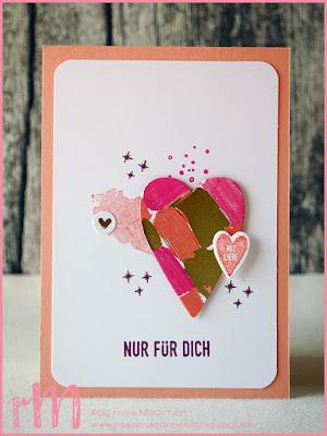 Stampin' Up! rosa Mädchen Kulmbach: Swap Ilona zum Teamtreffen bei Irina von der Herzenswerkstatt in Zella-Mehlis