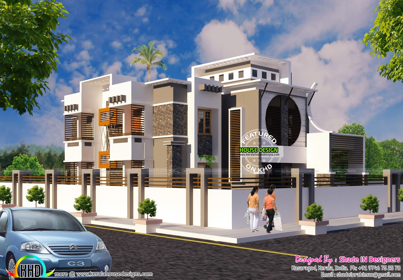 Ground floor 1745 sq ft first floor 1461 sq ft portico 191 sq ft total area 3397 sq ft no of bedrooms 5 design style modern