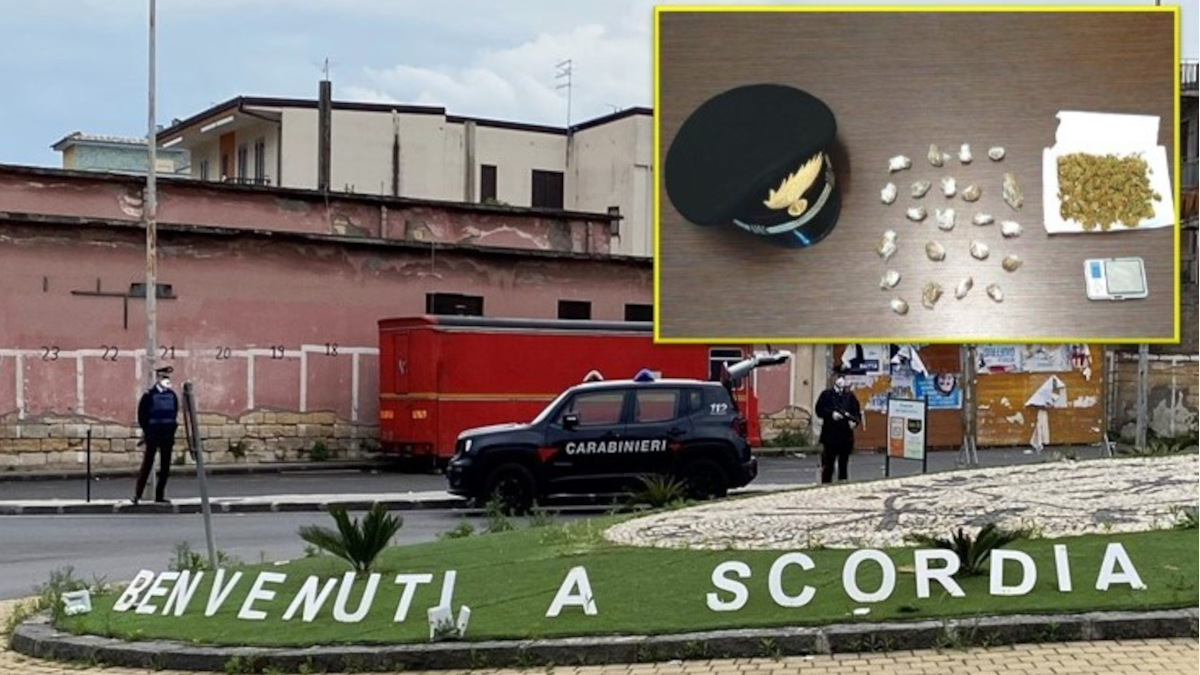 Scordia spaciatore minorenne Carabinieri