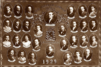Cuadro oficial del Torneo Internacional de la Exposición de Barcelona de 1929