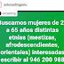 PERÚ: Se buscan MUJERES de 25 a 65 años distintas etnias para PUBLICIDAD