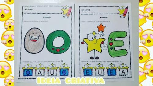 Atividades Vogais IMPRIMIR para Educação Infantil