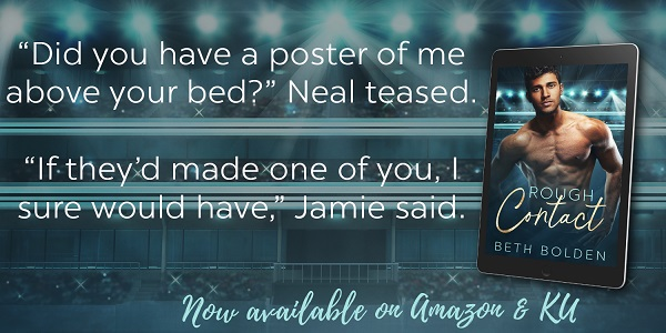 """Did you have a poster of me above your bed?"" Neal teased. ""If they'd made one of you, I sure would have,"" Jamie said."