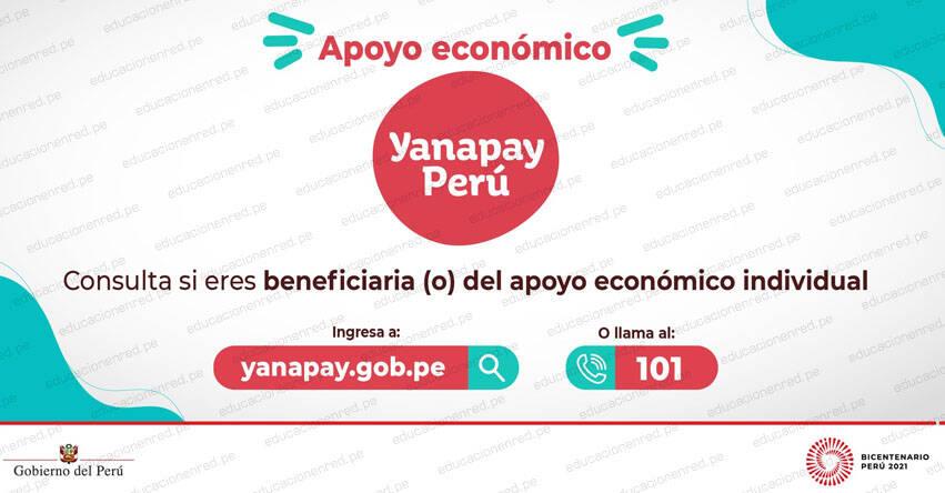 LINK BONO YANAPAY 2021 - Consulta si eres beneficiario ingresando tu DNI: www.consultas.yanapay.gob.pe