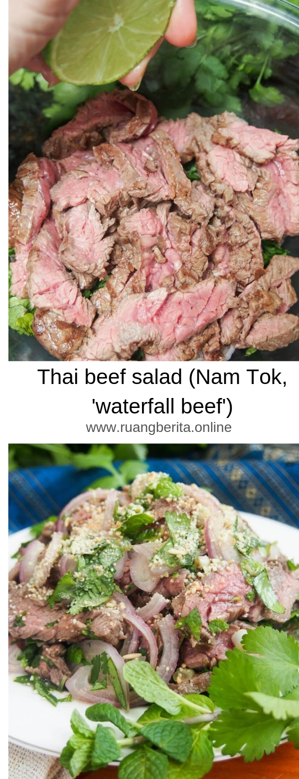 Thai beef salad (Nam Tok, 'waterfall beef')