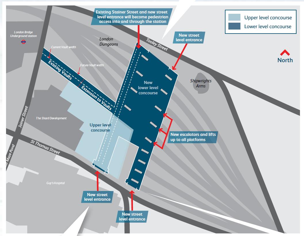 London Bridge Map.London Bridge Platform Map Catwalkwords