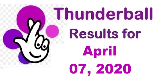 Thunderball Results for Tuesday, April 07, 2020