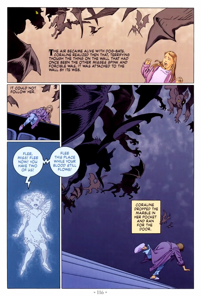 Read page 116, from Nail Gaiman and P. Craig Russell's Coraline graphic novel