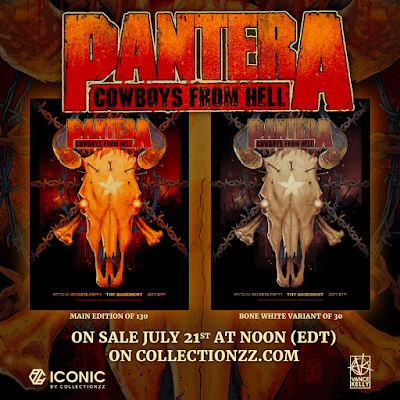 Pantera Cowboys From Hell 30th Anniversary Screen Print by Vance Kelly x Collectionzz