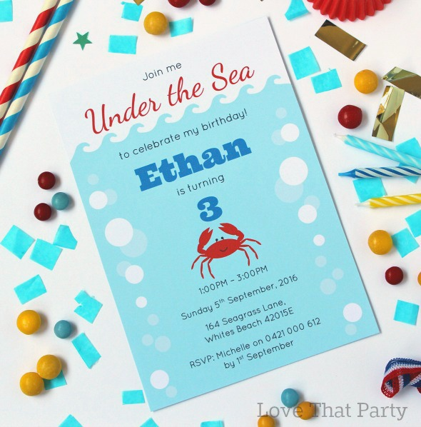 Crab Party Invitation