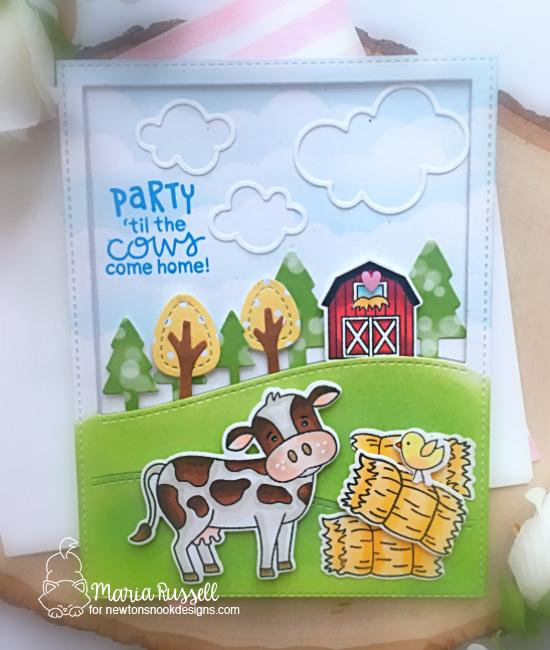 Cow Card by Maria Russell | Moo Stamp Set by Newton's Nook Designs #newtonsnook #handmade
