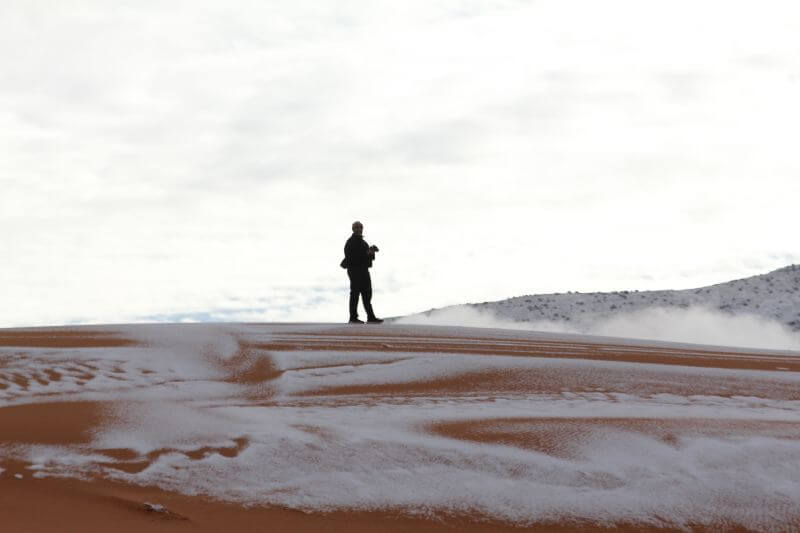 Astonishing Images Of Snow In Sahara