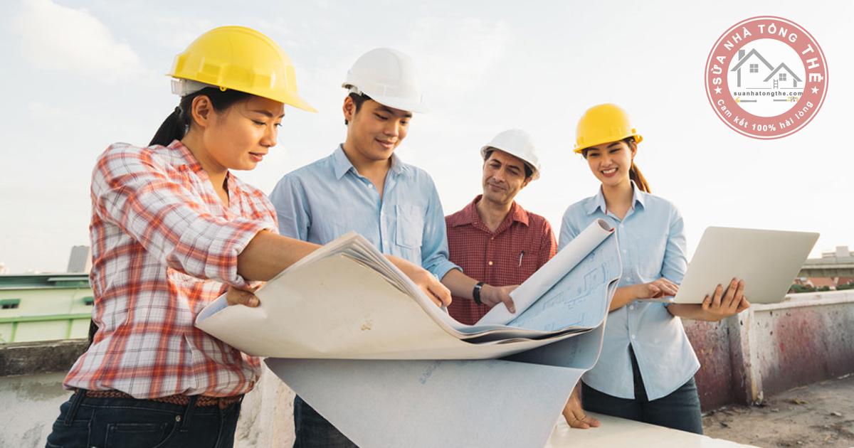 Quy trình thi công dịch vụ sửa nhà trọn gói của chúng tôi