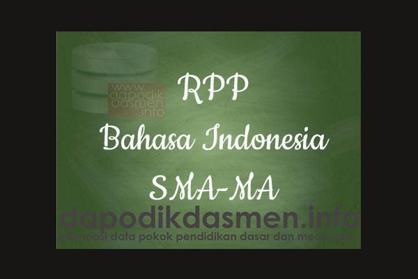 RPP 1 Halaman K13 SMA/MA Kelas 10 Bahasa Indonesia Semester 2, Download RPP Bahasa Indonesia Kurikulum 2013 SMA Kelas 10 Revisi 1 Lembar, RPP Silabus 1 Lembar Kelas 10