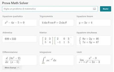 risolutore matematico