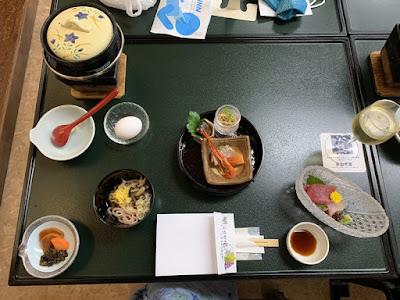 川浦温泉の夕食