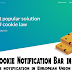 Install Cookie Notification Bar In Blogger