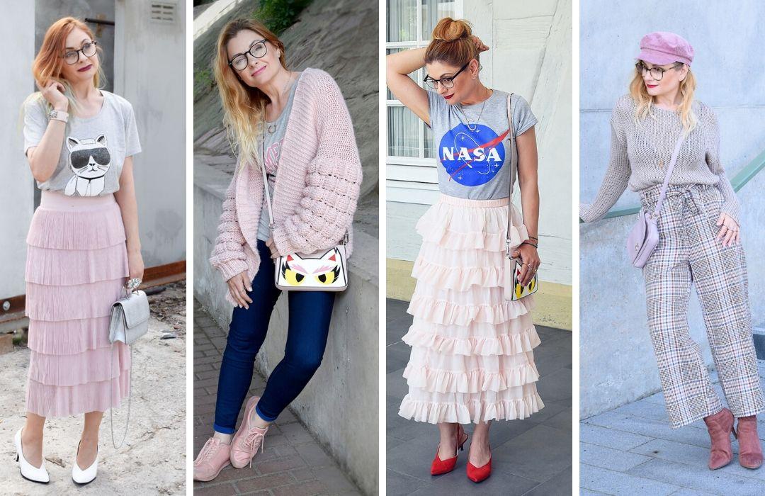 Rosa-Grau-Kombinieren-Outfits
