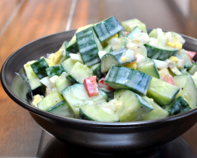 Smitten Kitchen's Avocado-Cucumber Salad ♥ AVeggieVenture.com, addictively good, so many variations. Low Carb. Gluten Free.