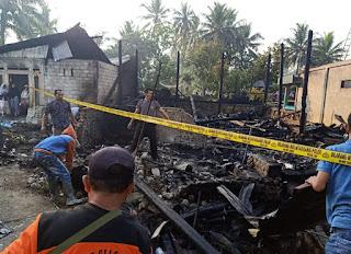 Tiga Unit Rumah Ludes Terbakar di Cupak, Kabupaten Solok