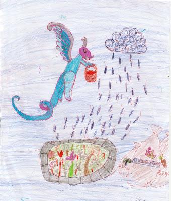 добрый дракончик сеет семена драконьей еды