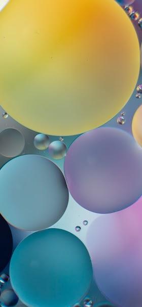 خلفية نقاط الألوان الفيروزية العائمة