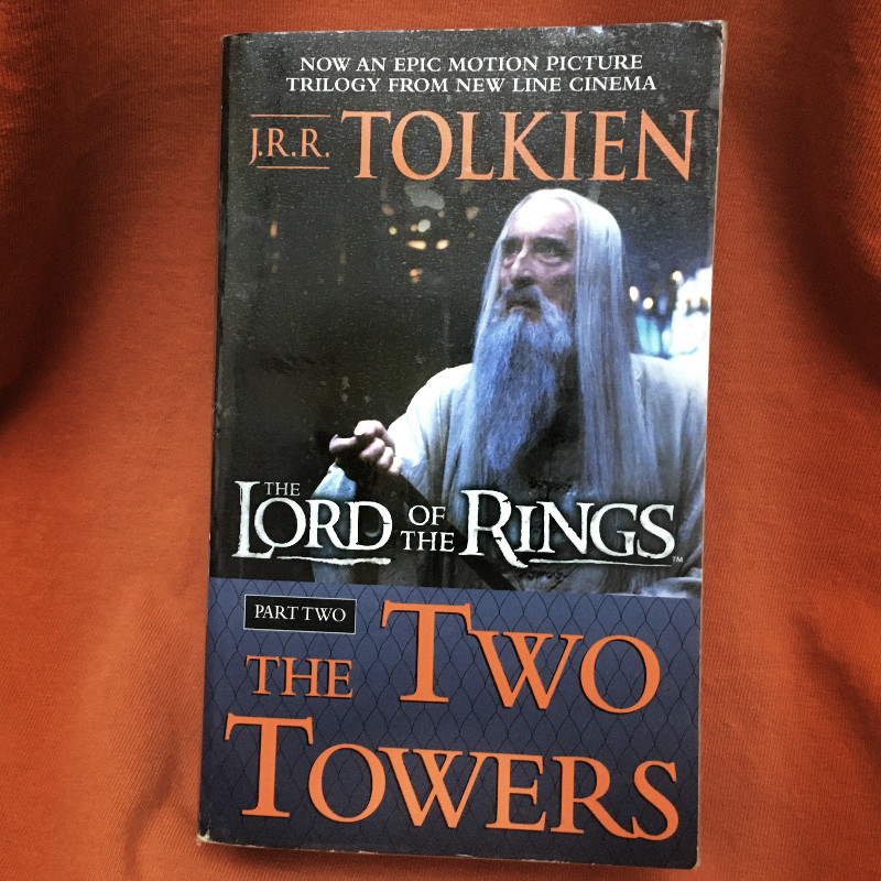 The Two Towers by J.R.R. Tolkien Paperback Book Film Cover Art Saruman