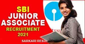SBI Junior Associate Clerk Online Form 2021