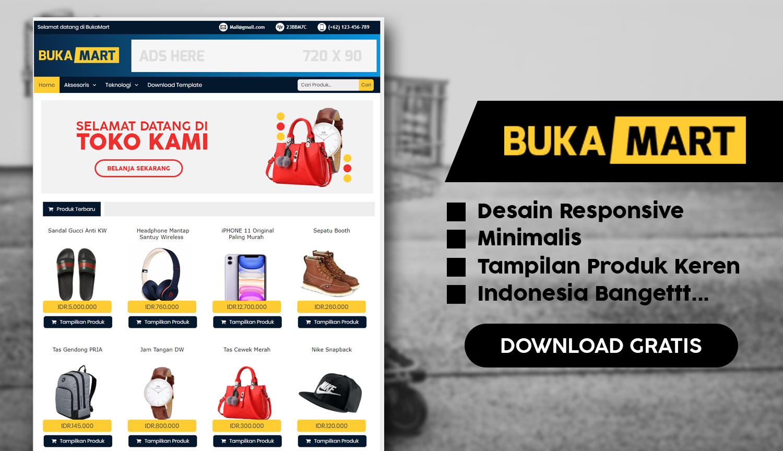 Template toko online blogspot gratis bukamart